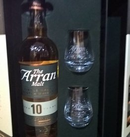 Original Distillery Bottling Arran 10Y gift pack + 2 glasses