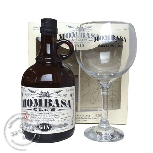 Mombasa Club Gin 41.5% + Glass