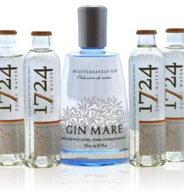 Gin Mare 42.7% giftset + 4 Tonic water 1728