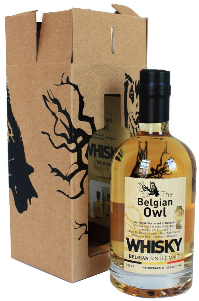 Original Distillery Bottling Belgian Owl 3Y 46% 0.5L
