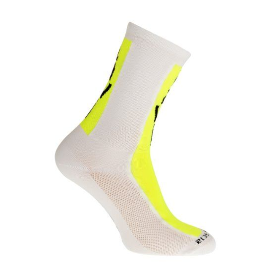 Socks long cabrera white/fluor yellow