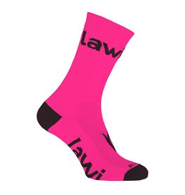 Bike socks long Zorbig fluor pink