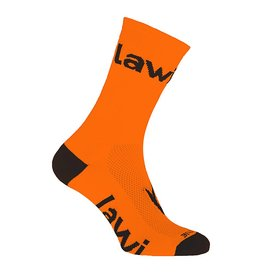 Bike socks long Zorbig fluor orange