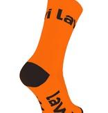 Bike socks long Zorbig fluor orange