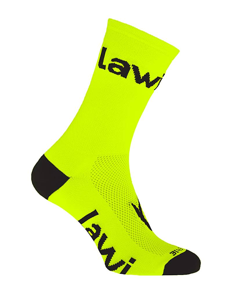 Bike socks long Zorbig fluor yellow