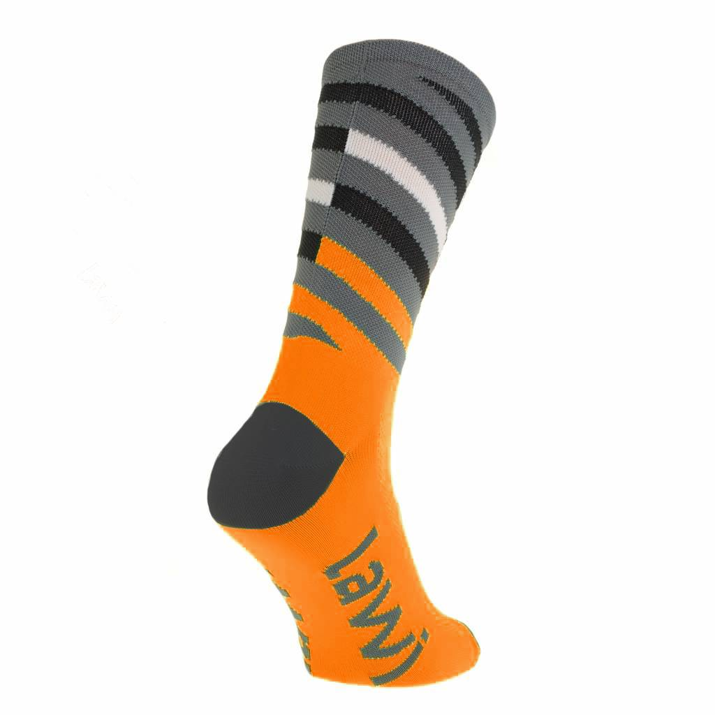 90112 - Fietssokken lang Relay fluor oranje