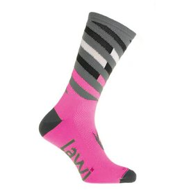 Fietssokken Lang Relay fluor roze