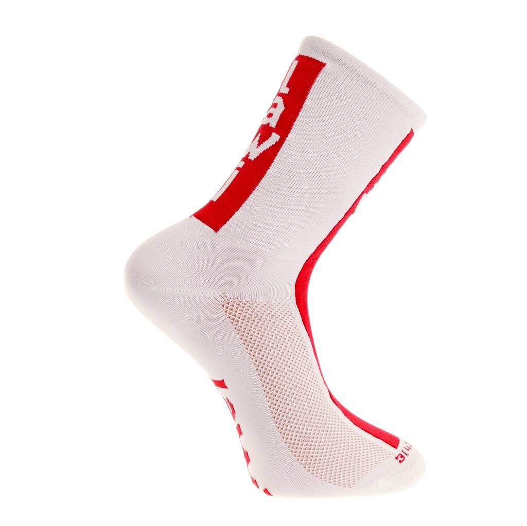 Socks long cabrera white/red