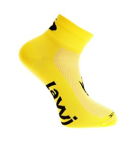 Bike socks short luxury yellow / black