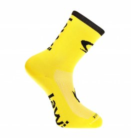 Bike socks long luxury yellow / black