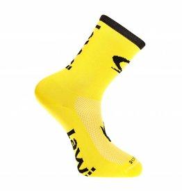Fietssokken lang de luxe geel/zwart