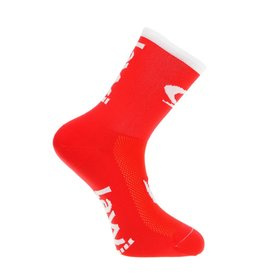 Bike socks long the luxury red / white