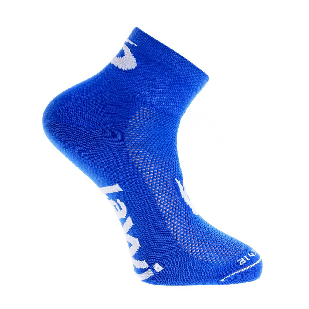 Cycling socks short the luxury blue / white