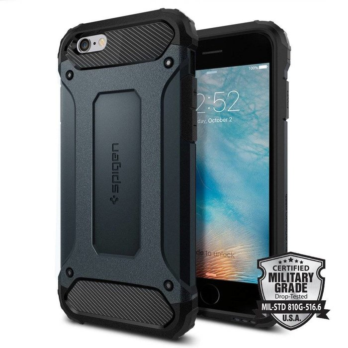 iPhone 6/6S Case Tough Armor Tech - Metal Slate