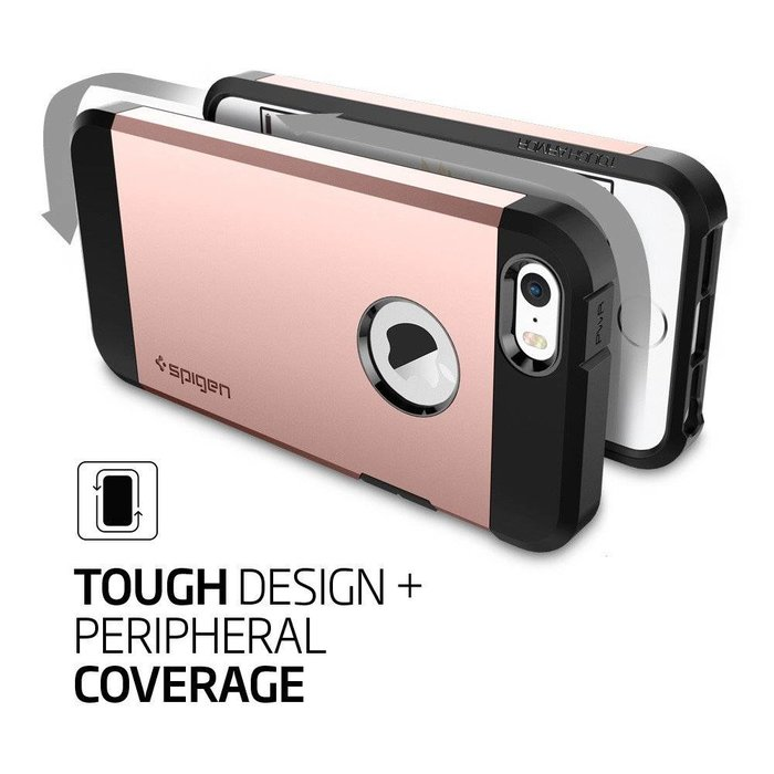 iPhone SE/5S/5 Case Tough Armor - Rose Gold