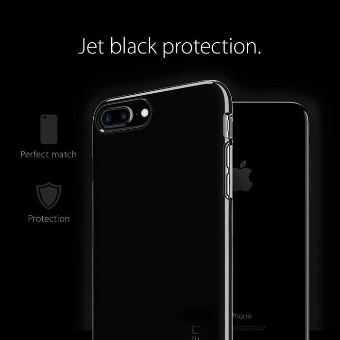 iPhone 7/8 Plus Case Thin Fit - Jet Black
