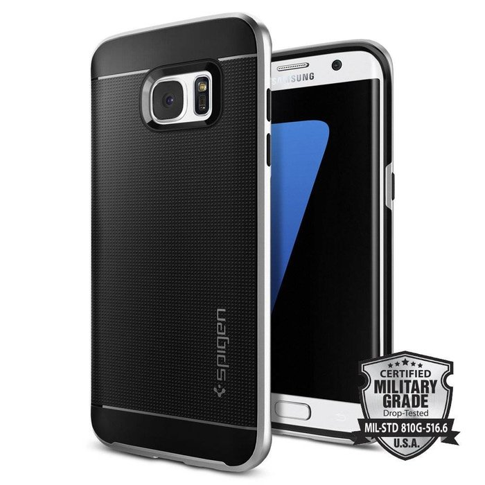 Galaxy S7 Edge Case Neo Hybrid - Satin Silver