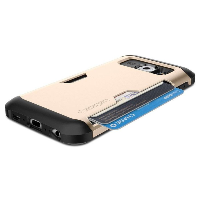 Galaxy S6 Case Slim Armor CS Card Slider - Champagne Gold