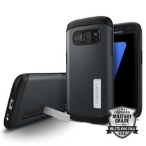 Spigen Galaxy S7 Case Slim Armor - Metal Slate