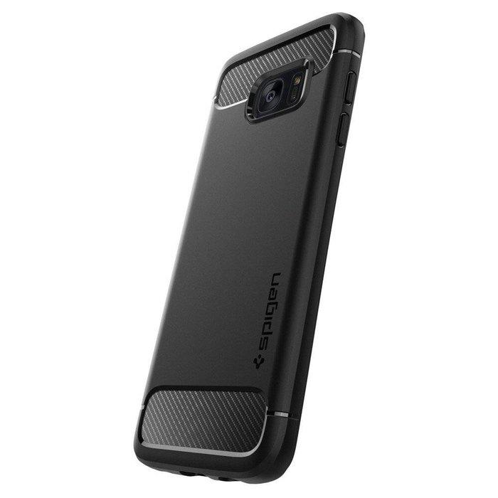 Galaxy S7 Edge Case Rugged Armor - Black