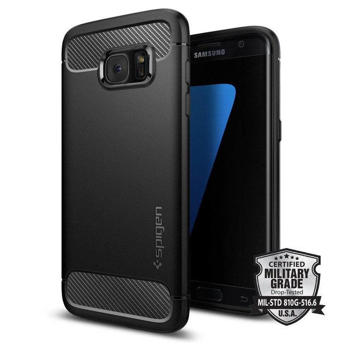 Galaxy S7 Edge Case Rugged Armor - Black