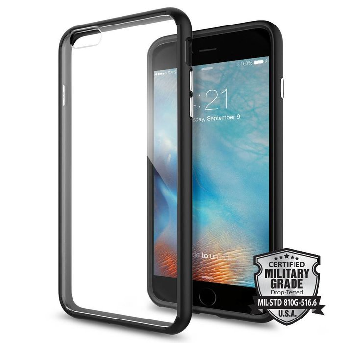 iPhone 6/6S Plus Ultra Hybrid Back Cover - Black