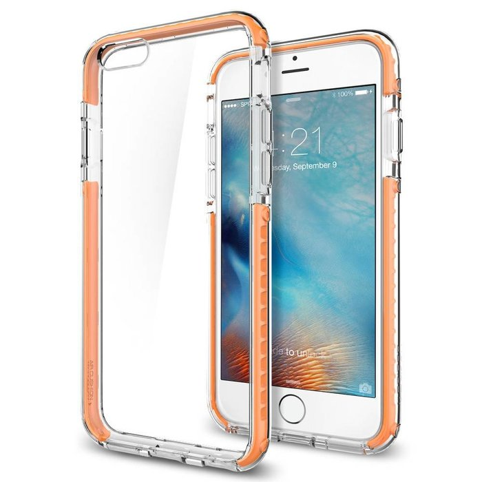 iPhone 6/6S Case Ultra Hybrid TECH - Crystal Orange