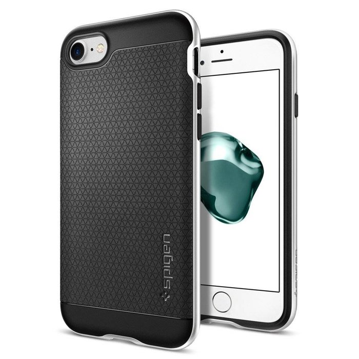 iPhone 7/8 Case Neo Hybrid - Satin Silver