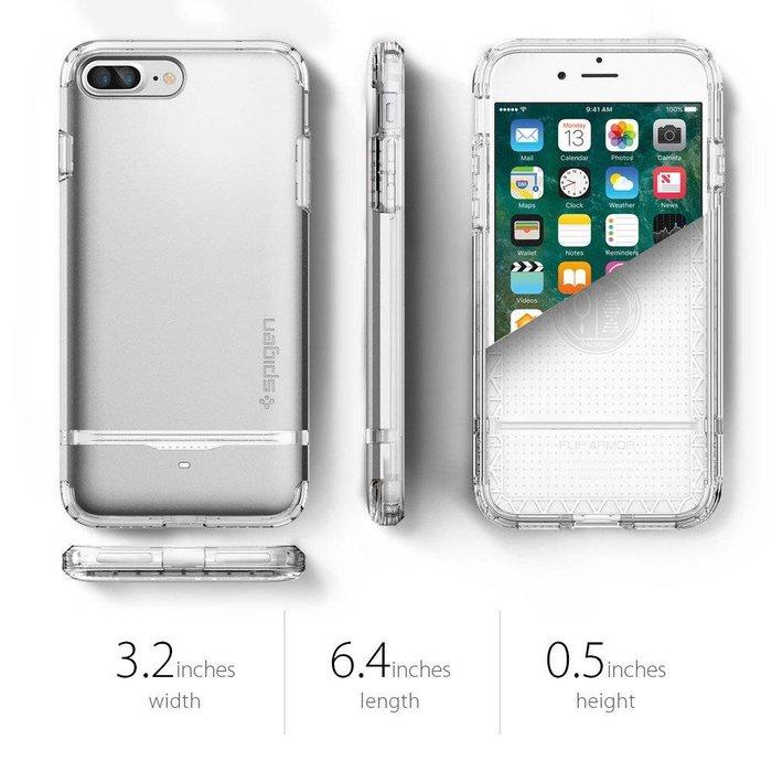iPhone 7/8 Plus Case Flip Armor - Satin Silver