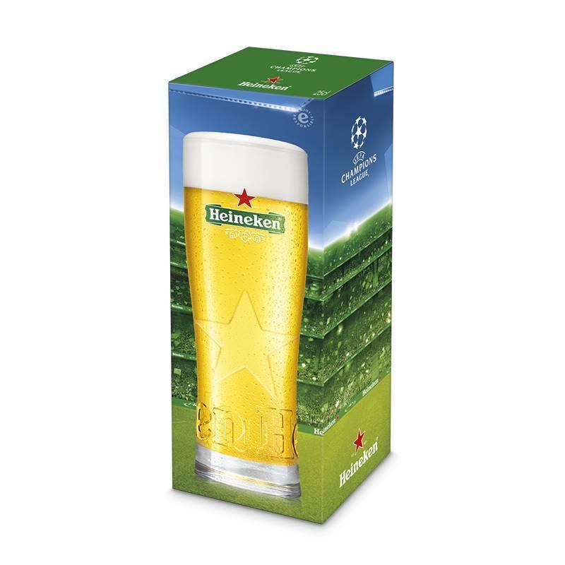 UEFA Champions League en Heineken Star-glas
