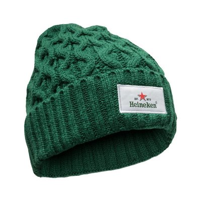 Heineken Beanie Knitted Green