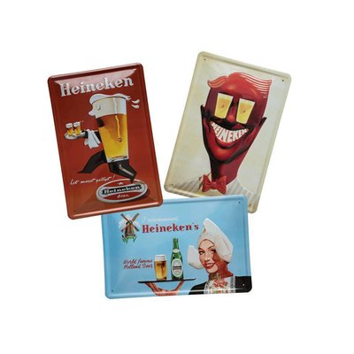 Heineken Wall Plate Bar Set Bundle - Small