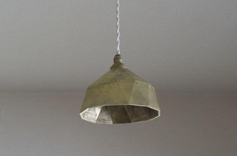 Futagami Brass Pendant Lamp Myojo S, Brass Pendant Lamp