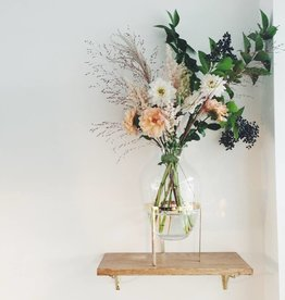 Nordstjerne Glass & Shiny Brass stand Vase