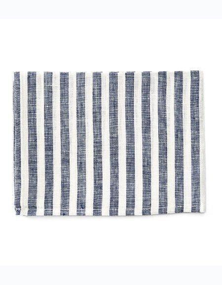 Fog Linen  Fog Linen Navy Stripe Linen  dishtowel