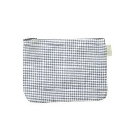 Fog Linen  Checked Sally Pouch