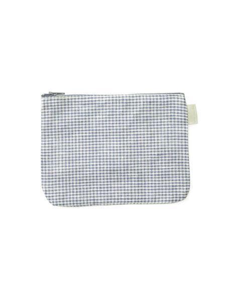 check small. Delighful Check Fog Linen Blue U0026 White Small Check Sally Pouch On E