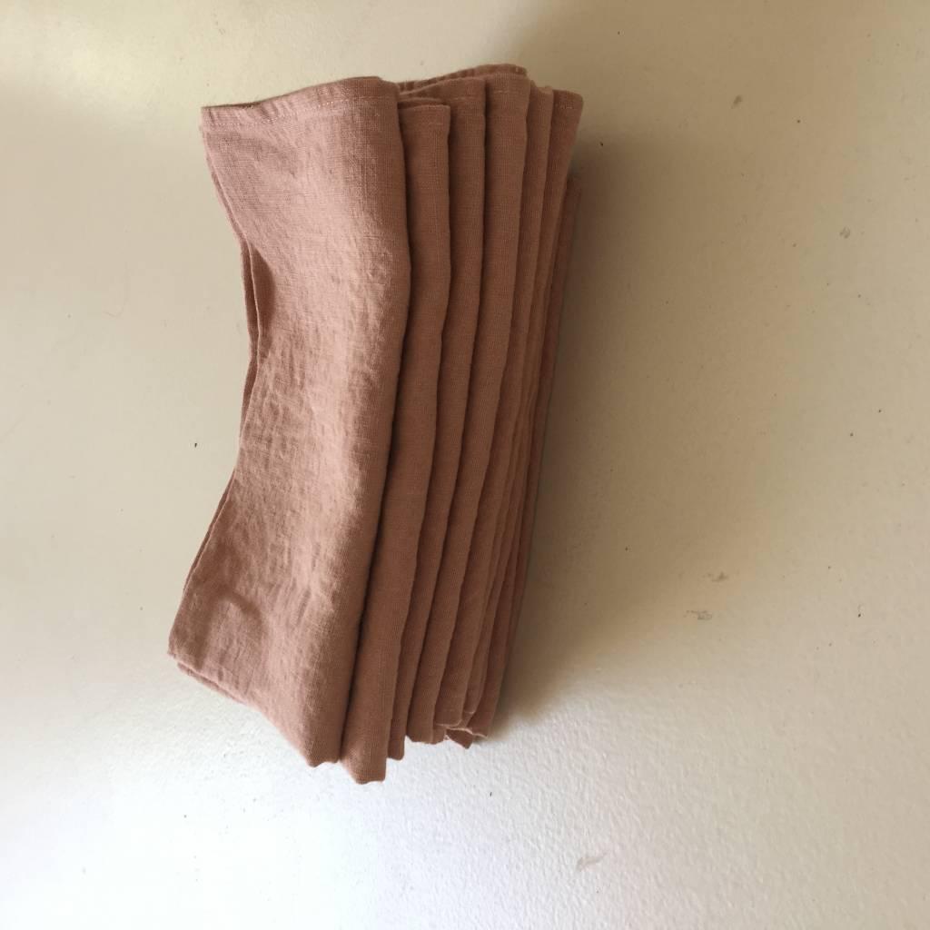 Linge Particulier  Linge Particulier Moka set of 2 Napkins 45 x 45 cm