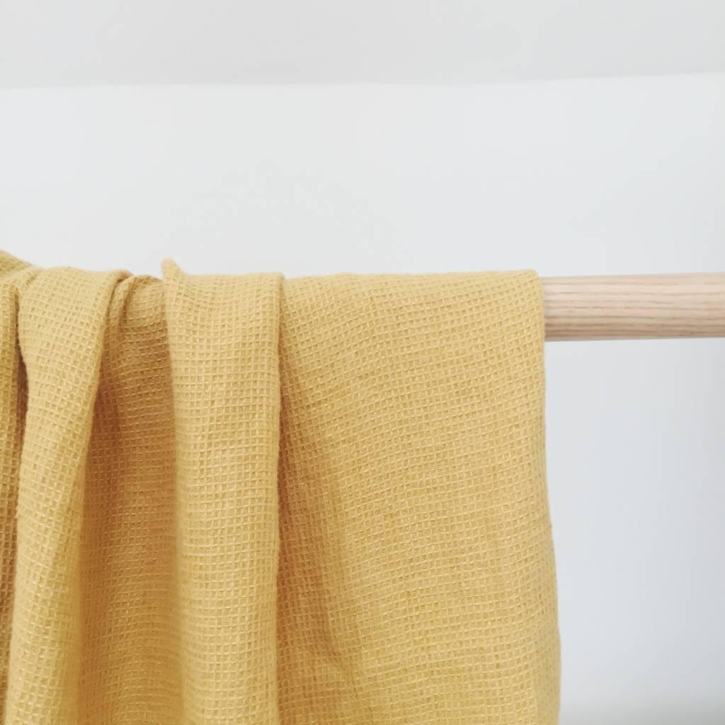 Linge Particulier  Linge Particulier Towel Waffle Gold Washed Linen 100 x 160 cm