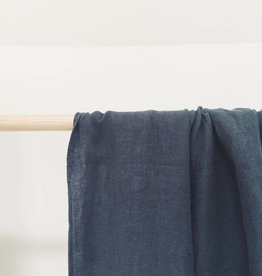 Linge Particulier  Linen Towel Waffle Black