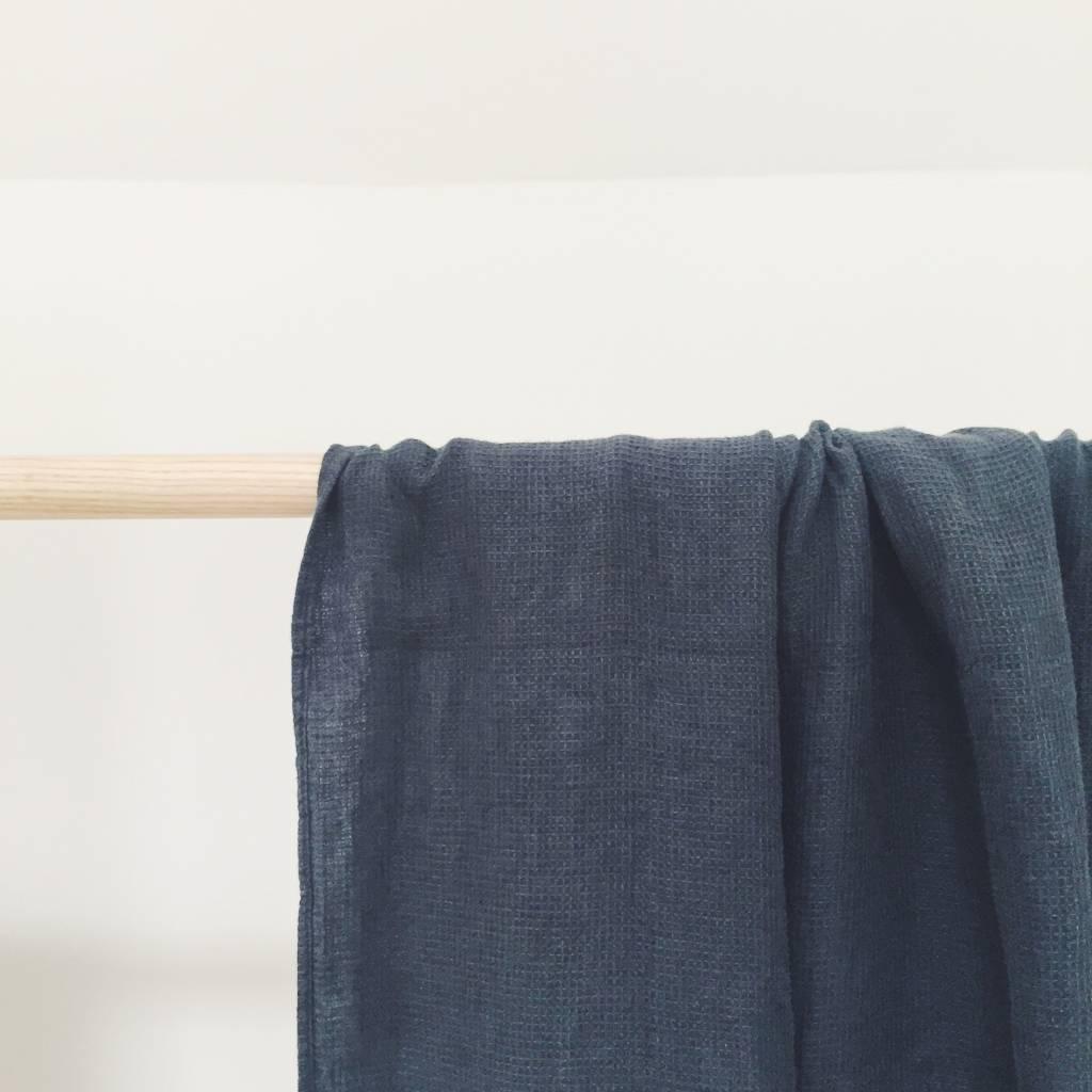 Linge Particulier  Linge Particulier Towel Waffle Black Washed Linen 100 x 160 cm