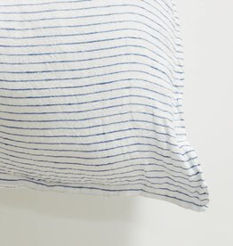 Linge Particulier  Cushion Cover Atlantic Blue Stripe