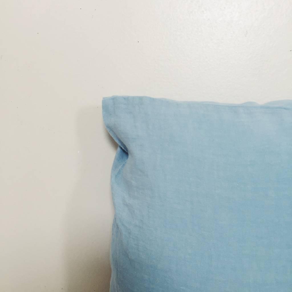 Linge Particulier  Linge Particulier Cushion Cover Scandinavian Blue Washed Linen 40 x 60 cm