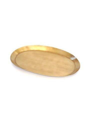 Fog Linen  Fog Linen Brass Tray Oval