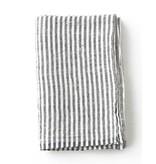 Fog Linen  Fog Linen Navy Stripe Thick Linen Chambray Blanket