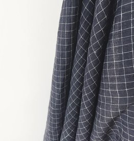 Black check Linen