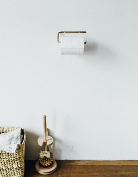 Fog Linen  Fog Linen Brass Toilet Paper Holder