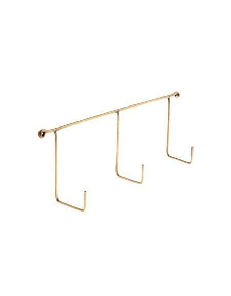 Fog Linen  Fog Linen Brass Triple Hook