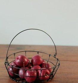 Fog Linen  Round Iron Market Basket