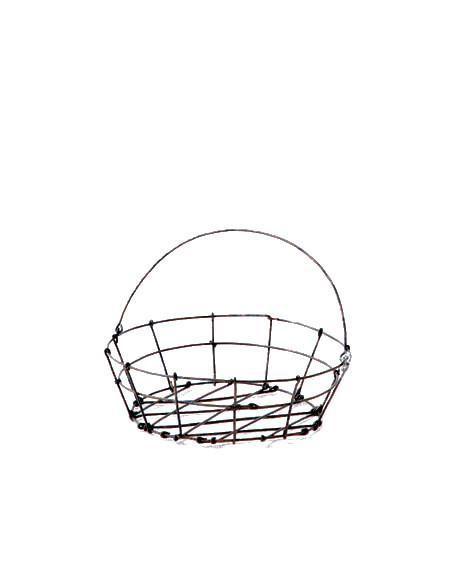 Fog Linen  Fog Linen Round Iron Market Basket